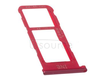 OEM SIM + SD Card Tray for Huawei P Smart Plus Acacia Red