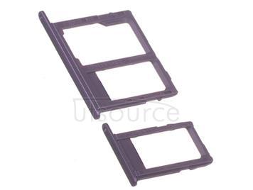 OEM SIM + SD Card Tray for Samsung Galaxy J8 Purple