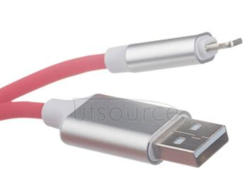 New USB Sync & Charge Cable with Sound Light Sensor for iPhone/iPad Red