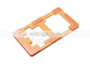 UV Glue LOCA Alignment Mould LCD Outer Glass Mold for Samsung Galaxy S6 Orange