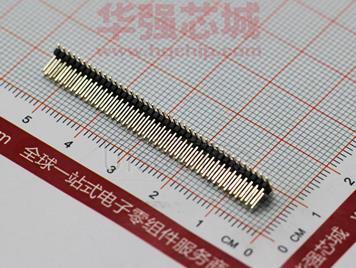 1.27贴片排针2X40A镀金0.8U