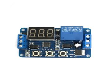 Multi-function adjustable switch control module triggers delay cycle timing self-locking delay switch on and off control