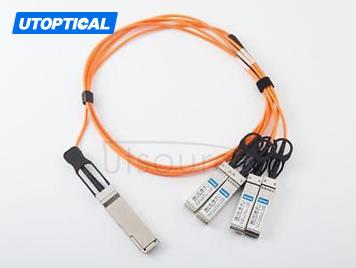 1m(3.28ft) Extreme Networks 10GB-4-F01-QSFP Compatible 40G QSFP+ to 4x10G SFP+ Active Optical Cable