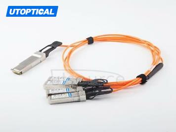 5m(16.4ft) Juniper JNP-QSFP-AOCBO-5M Compatible 40G QSFP+ to 4x10G SFP+ Active Optical Cable