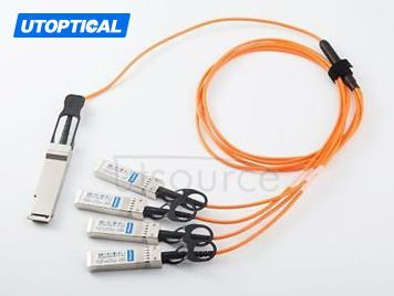 5m(16.4ft) Avago AFBR-7IER05Z Compatible 40G QSFP+ to 4x10G SFP+ Active Optical Cable