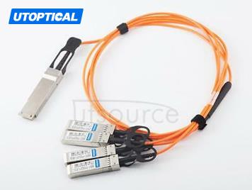 5m(16.4ft) Utoptical Compatible 40G QSFP+ to 4x10G SFP+ Active Optical Cable