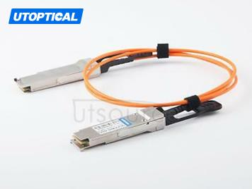 5m(16.4ft) Utoptical Compatible 40G QSFP+ to QSFP+ Active Optical Cable