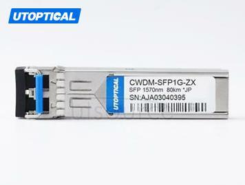 Juniper EX-SFP-GE80KCW1570 Compatible CWDM-SFP1G-ZX 1570nm 80km DOM Transceiver