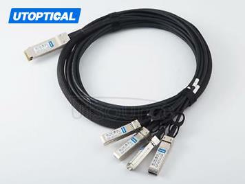 3m(9.84ft) Check Point CPAC-TR-40SPLIT-QSFPSR-3M Compatible 40G QSFP+ to 4x10G SFP+ Passive Direct Attach Copper Breakout Cable