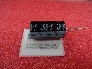 (5pcs) DIP Aluminum Electrolytic Capacitor 450V 100uF 18*35mm