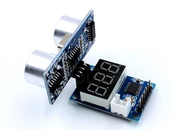 LDTR-WG0171 Ultrasonic Distance Measurement Control Board HC-SR04 Test Board Rangefinder, Digital Display Serial Output