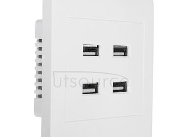 5V 3.1A 4 Ports USB Wall Charger Adapter Dock Station Socket Power Panel, 36V input
