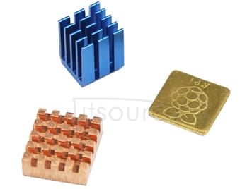 3 in 1 Cooling Heatsink Copper + Aluminium Heat Sink Pad Shims for Raspberry Pi 3 / 2 / B+
