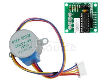 LDTR-WG0246 28YBJ-48 DC 5V 4 Phase 5 Wire Stepper Motor with ULN2003 Driver Board (Silver)