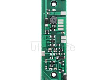 LDTR-WG0235 12V Output Charging UPS Uninterrupted Protection Integrated Board 18650 Lithium Battery Boost Module With Case (Green)