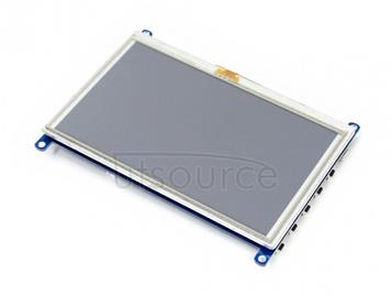WAVESHARE 5 Inch HDMI LCD (G) 800x480 Touch Screen  for Raspberry Pi Supports Various Systems