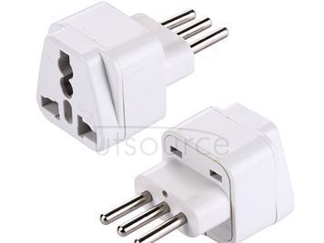 Plug Adapter, Travel Power Adaptor with Italian Plug(White)
