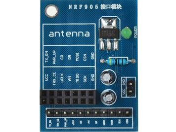 14 Pin NRF905 Wireless Module with AMS1117 3.3V Stable Chip Socket Adapter Plate Board Converter DIY for Arduino - Blue