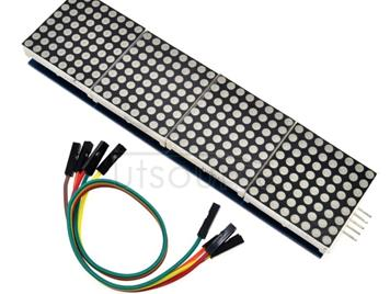 LDTR-WG0221 MAX7219 Microcontroller 4-in-1 Display Dot Matrix Module for Arduino