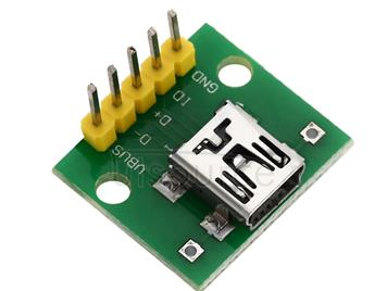 Mini USB to 2.54mm DIP 5P Adapter Module for Breadboard