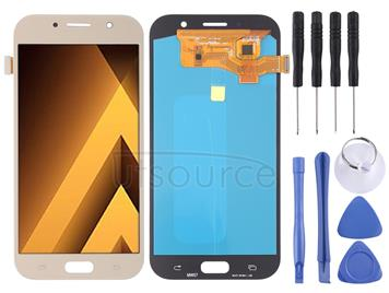 LCD Screen and Digitizer Full Assembly (OLED Material ) for Galaxy A7 (2017), A720F, A720F/DS(Gold)