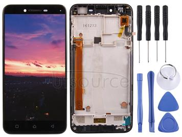 LCD Screen and Digitizer Full Assembly with Frame for Lenovo Vibe K5 A6020A40 (Black)