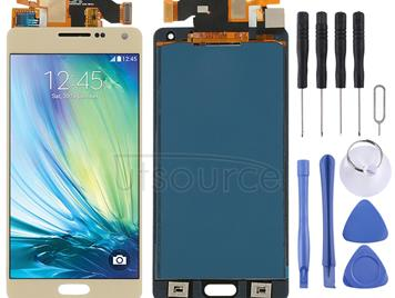 LCD Screen and Digitizer Full Assembly (TFT Material) for Galaxy A5, A500F, A500FU, A500M, A500Y, A500YZ (Gold)