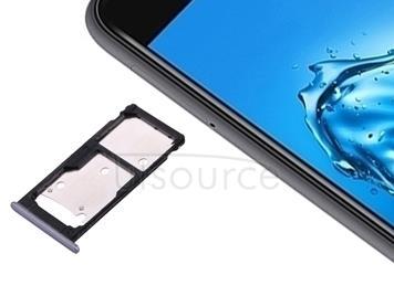 For Huawei Enjoy 7 Plus / Y7 Prime SIM Card Tray & SIM / Micro SD Card Tray(Grey)
