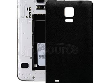 Litchi Texture Leather Paste Skin Back Cover  for Galaxy Note 4(Black)
