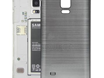 Black Edge Brushed Texture Back Cover  for Galaxy Note 4(Silver)