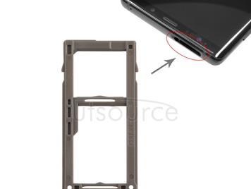 SIM Card Tray +  Micro SD Card Tray for Galaxy Note9 (Blue)