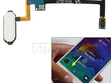 Home Button Flex Cable with Fingerprint Identification Function for Galaxy Note 4 / N910(White)