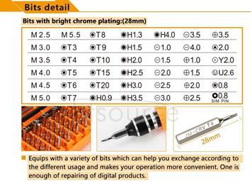 JAKEMY JM-8130 45 in 1 Interchangeable Magnetic Precision Screwdriver Set