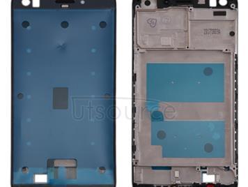 For Huawei Enjoy 7 Front Housing LCD Frame Bezel Plate(Black)
