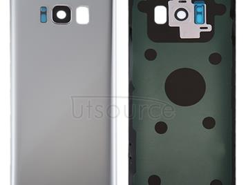 Back Cover with Camera Lens Cover & Adhesive for Galaxy S8 / G950 Battery (Silver)