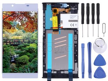 LCD Screen and Digitizer Full Assembly with Frame for Sony Xperia L1 G3311 G3312 G3313(Silver)