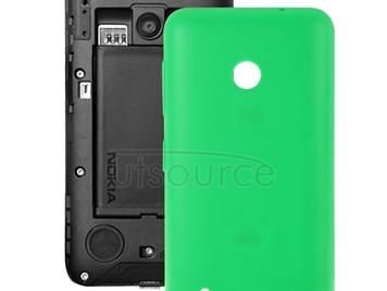 Solid Color Plastic Battery Back Cover for Nokia Lumia 530/Rock/M-1018/RM-1020(Green)