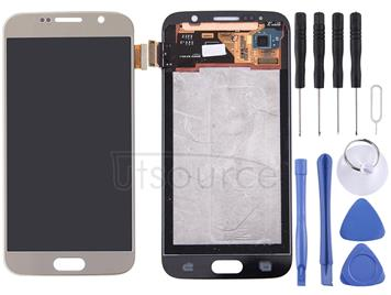 Original LCD Screen and Digitizer Full Assembly for Galaxy S6 / G9200, G920F, G920FD, G920FQ, G920, G920A, G920T, G920S, G920K, G9208, G9208/SS, G9209(Gold)