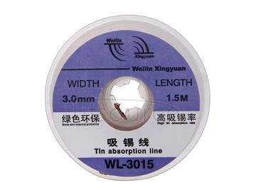 WL-3015 1.5m Soldering Tin Absorption Wire, Width: 3.0mm
