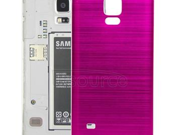 White Edge Brushed Texture Back Cover  for Galaxy Note 4(Magenta)