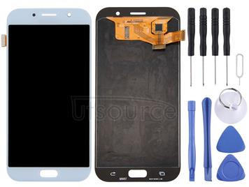 Original LCD Screen and Digitizer Full Assembly for Galaxy A7 (2017), A720F, A720F/DS(Blue)