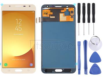 LCD Screen and Digitizer Full Assembly (TFT Material ) for Galaxy J7 Neo, J701F/DS, J701M(Gold)