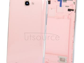 Original Full Housing Chassis with Back Cover + Volume Button for Galaxy Note II / N7100(Pink)