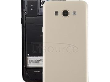 Back Cover with Side Keys & Camera Lens for Galaxy A8(Gold)