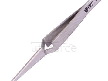 BEST BST-F12.5  Stainless Steel Self Closed Straight Laboratory Tweezers