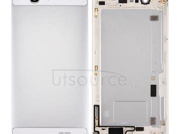 For Huawei Ascend G7 Battery Back Cover with Volume Button & Power Button(Silver)