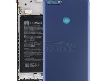 Back Cover with Side Keys for Huawei Y7 (2018)(Blue)