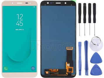 LCD Screen and Digitizer Full Assembly (TFT Material ) for Galaxy J6 (2018), On6, J600F/DS, J600G/DS(Gold)