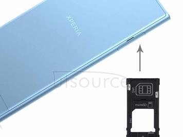 for Sony Xperia XZs (Dual SIM Version) SIM & Micro SD / SIM Card Tray(Silver)