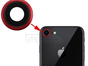 Back Camera Bezel with Lens Cover for iPhone 8 (Red)